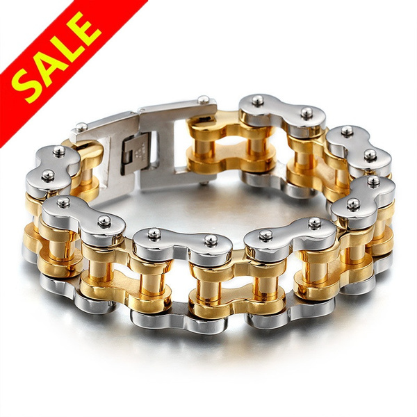 hip hop jewelry, Bicycle, Chain bracelet, Sports & Outdoors