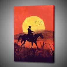 decoration, canvasprint, art, Cowboy