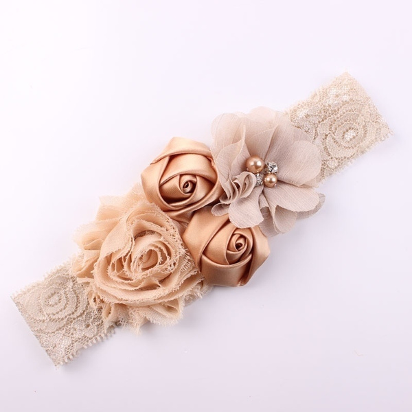 elasticheadband, laceheadband, Flowers, kidheadband