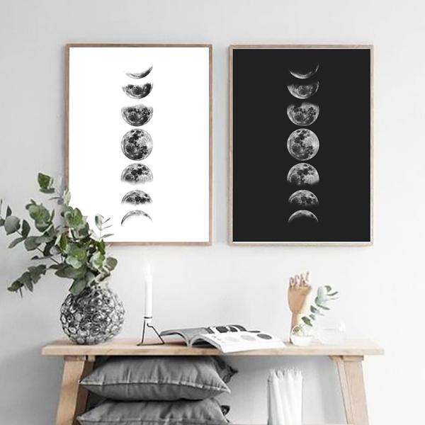 moonwallart, art, moonphase, painting