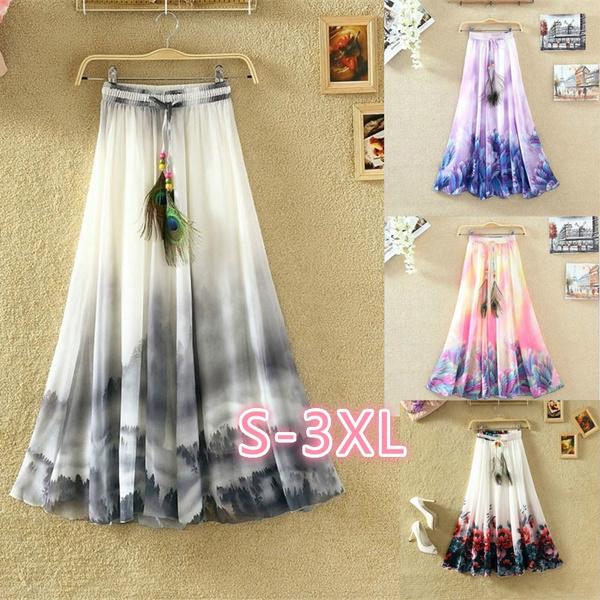 womenscasualskirt, Summer, long skirt, short dress