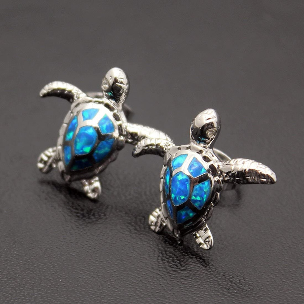 Turtle, cute, opalearring, Stud