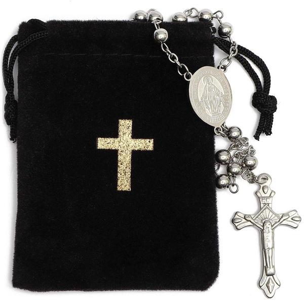 rosarybead, Steel, velvet, Jewelry