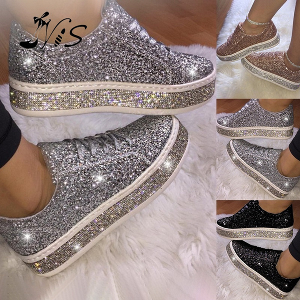 Spring Sequin Glitter Casual Shoes