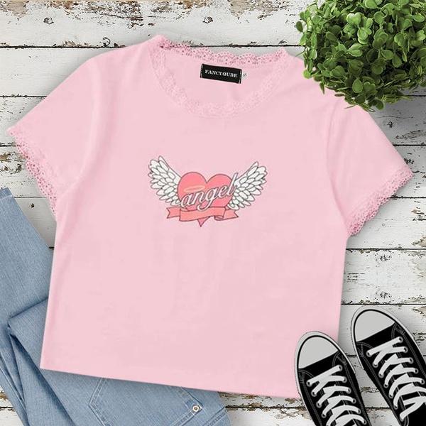 Kawaii, Kawaii Clothes, Love, women crop top