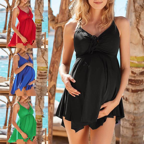 Fashion, Swimsuit skirt, pregnant bikini, summerswimwear
