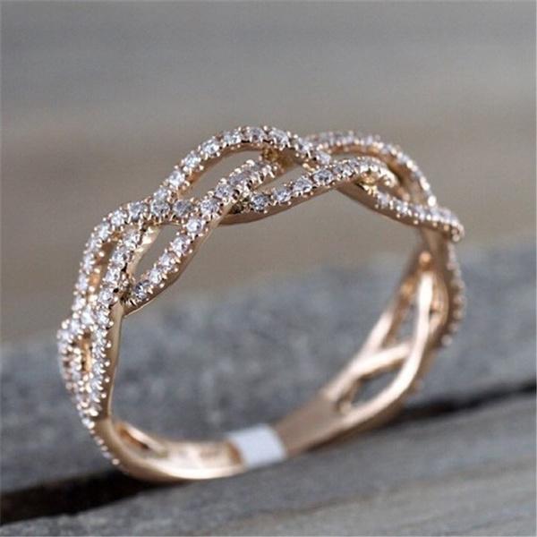 twistring, DIAMOND, Rose Gold Ring, 925 silver rings