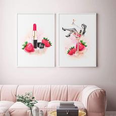 pink, nordicpaintingpattern, Modern, art