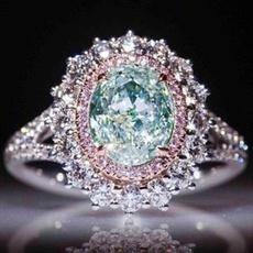 crystal ring, wedding ring, Topaz, Diamond Ring