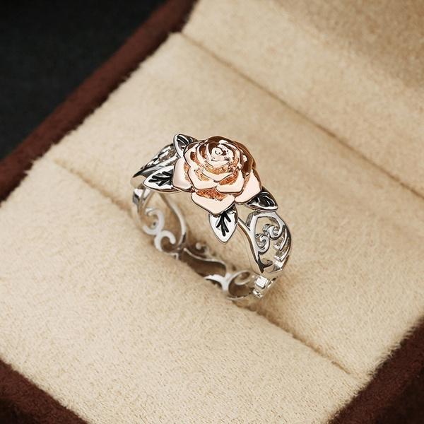 Fashion, Rose Gold Ring, gold, Silver Ring