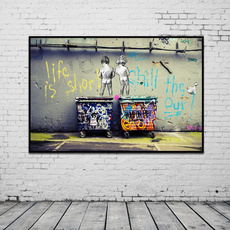 canvasoilpainting, Decor, Shorts, art