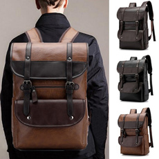 Laptop Backpack, School, PU Leather Backpack, Computers