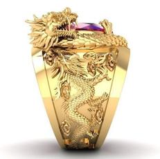 ringsformen, DIAMOND, dragonring, gold