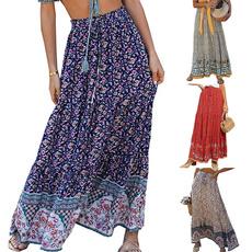 long skirt, summer skirt, Waist, Elastic