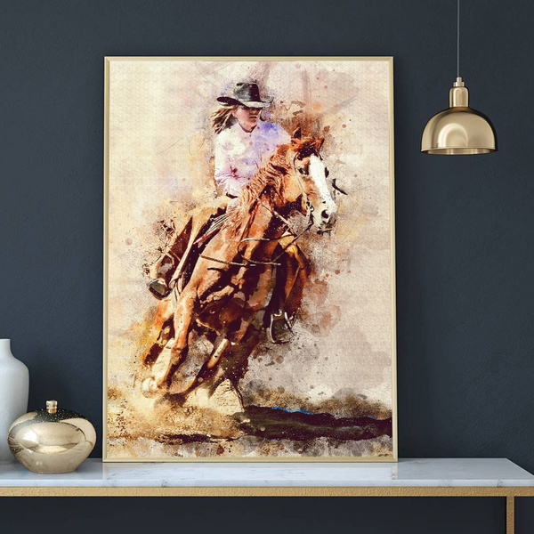 Wall Art, Home Decor, figure, Cowgirl