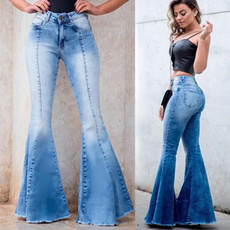 Fashion, Bell, bellbottom, Women jeans