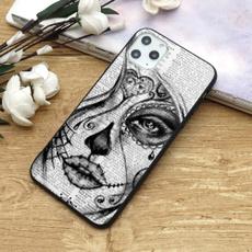 case, cute, Flowers, skull