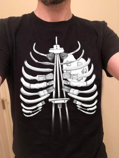 Funny T Shirt, Cotton Shirt, Skeleton, summer shirt