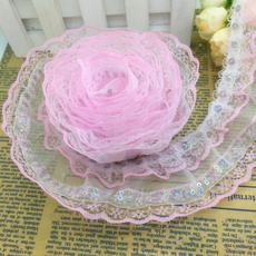 Beautiful, Lace, sequingatheredlace, pleatedlace