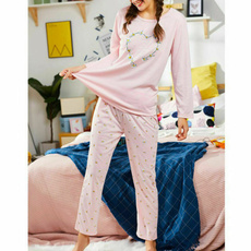 pink, women's pajamas, sleepwearsuit, trousers