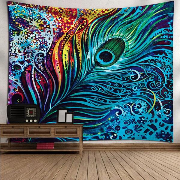 peacock, Decor, Wall Art, mandalatapestry