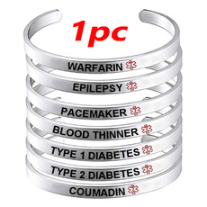 Steel, type1diabetic, Stainless Steel, Wristbands
