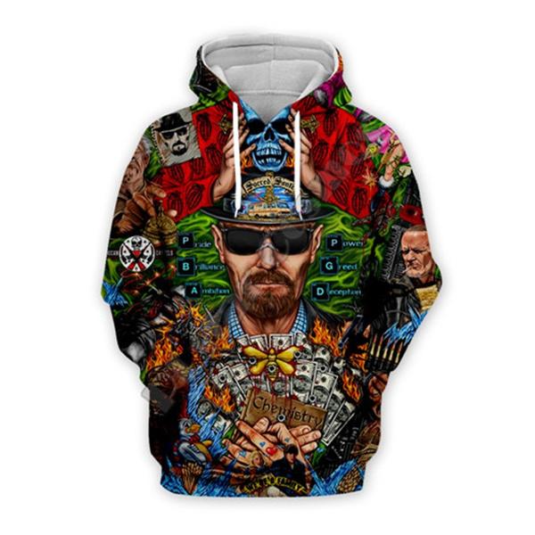 3D hoodies, Fashion, Casual Jackets, Movie