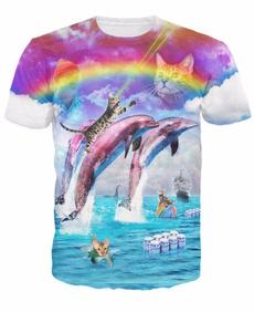 rainbow, Men, Shirt, Summer