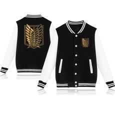 baseballshirt, Fashion, attackontitanhoodie, Spring