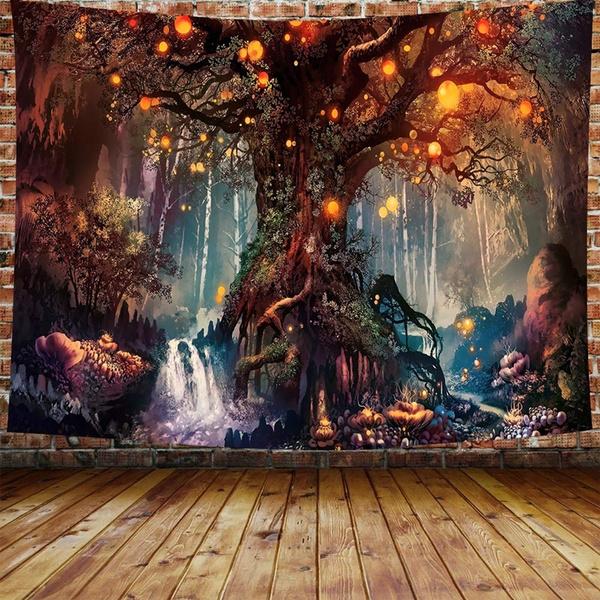 treetapestry, foresttapestry, Home Decor, hangingtapestry