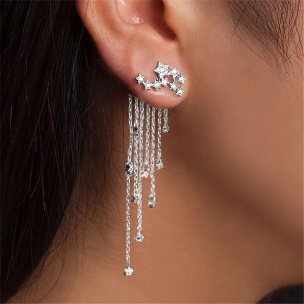 tasselsearring, Star, Jewelry, gold