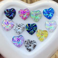 Heart, waterdropresin, buttonsforclothing, heartshapedrhinestoneflatback