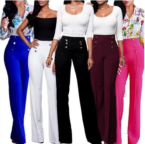 trousers, high waist, Casual pants, pants