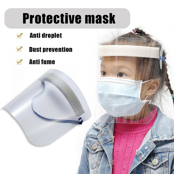 Unisex Transparent Protective Face Shield PVC Dust-Proof Anti-Wind Portable Foldable Bandage for Hat Cap Anti-Spitting Protective Isolation Anti Pollution Hat Cover Sky Blue Adult