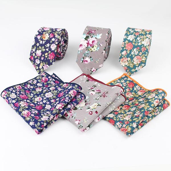mens ties, Pocket, Flowers, floraltie