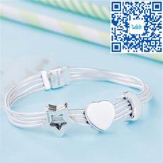 Sterling, Chain bracelet, Silver Jewellery, Pandora Beads