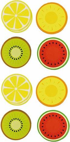 Paper, Summer, Fruit, themed