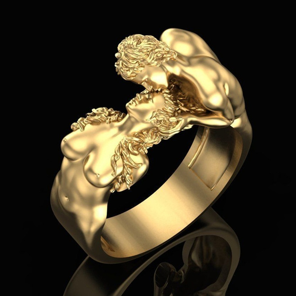 Fashion, wedding ring, gold, 18k gold ring