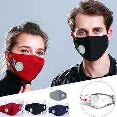 respiratormask, cottonbreathvalvepm25mouthmask, Cloth, Masks