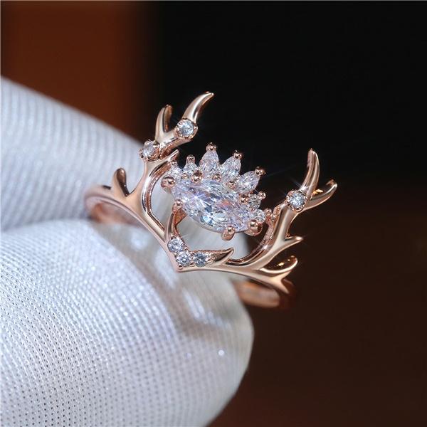 engagementgift, DIAMOND, Rose Gold Ring, Gifts