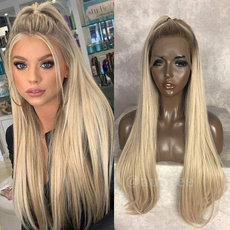 wig, brown, blondestraightwig, lacefronthumanhairwig