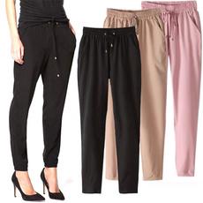 trousers, Elastic, Waist, Casual pants