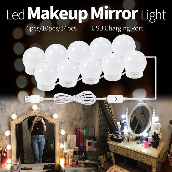 14pcs Diy Led Vanity Mirror Lights