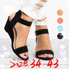 wedge, Sandals, Womens Shoes, Buckles