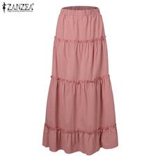 plussizeskirt, long skirt, elastic waist, ruffle