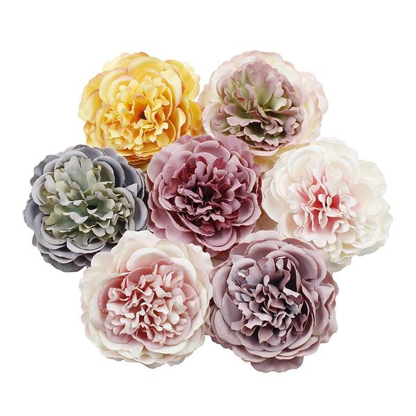 Head, Flowers, Garland, peony