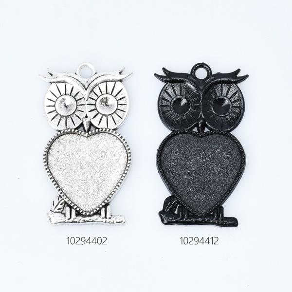 Heart, owlpendant, Bezel, pendanttray