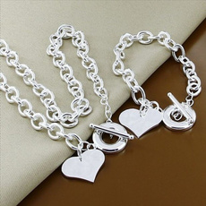 Sterling, Heart, fashionnecklacesilver, 925 sterling silver