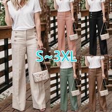 Women Pants, elastic waist, wideleg, Cintura