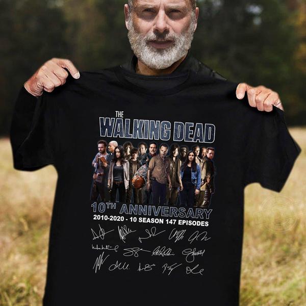 Mens T Shirt, thewalkingdeadshirt, cottontee, Summer